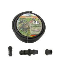 15m CS Perlschlauch drucklos mit Anbohrverbinder und...